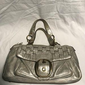 Coach Tattersall silver satchel 12413